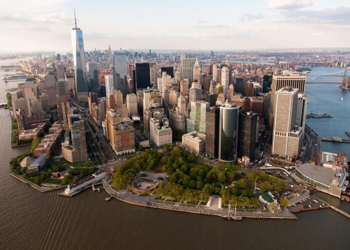 Parque Battery Park em Nova York