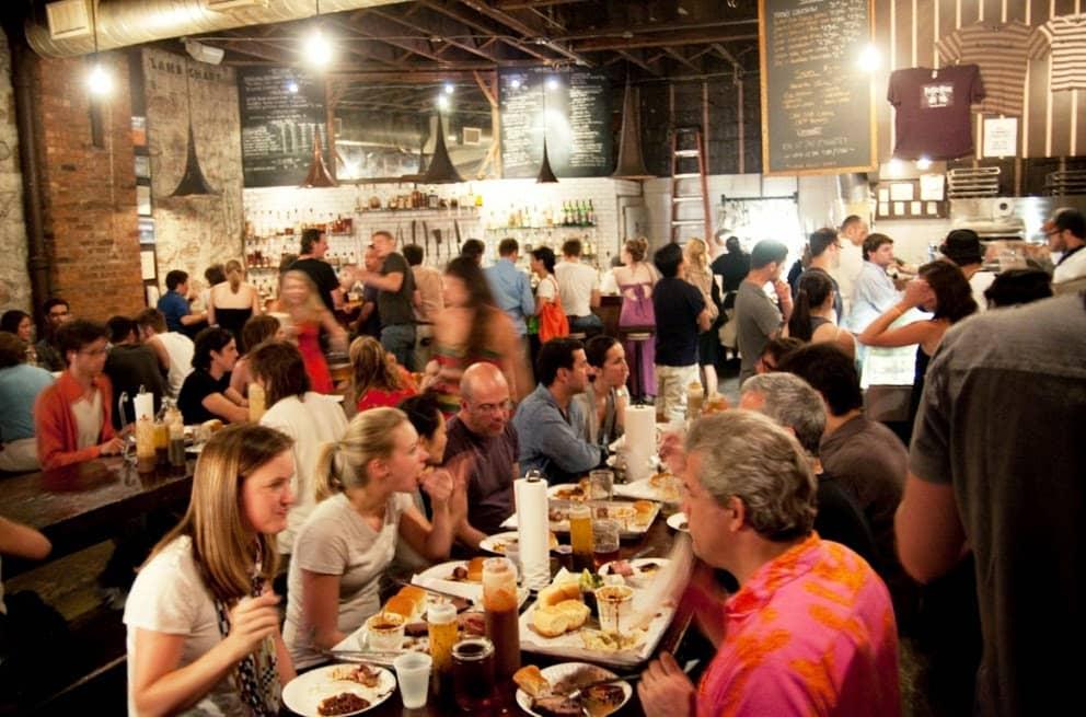 Restaurante Fette Sau no Brooklyn