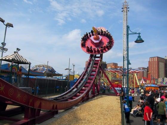Como é o de parque Coney Island em Nova York