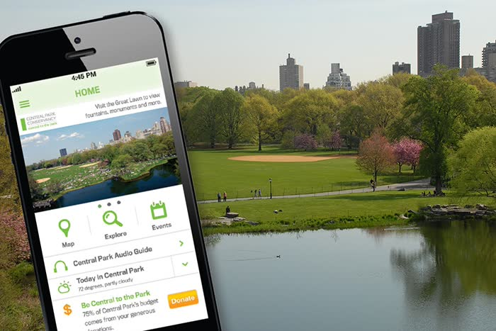 Usar o celular em Nova York