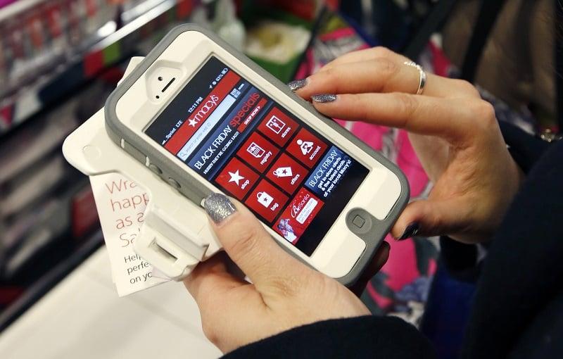 Celular nas compras em Nova York