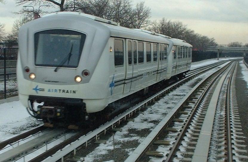 AirTrain + metrô do aeroporto JFK até Manhattan em Nova York