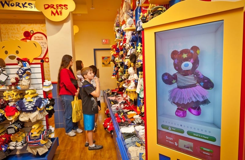 Como é a loja Build a Bear Workshop
