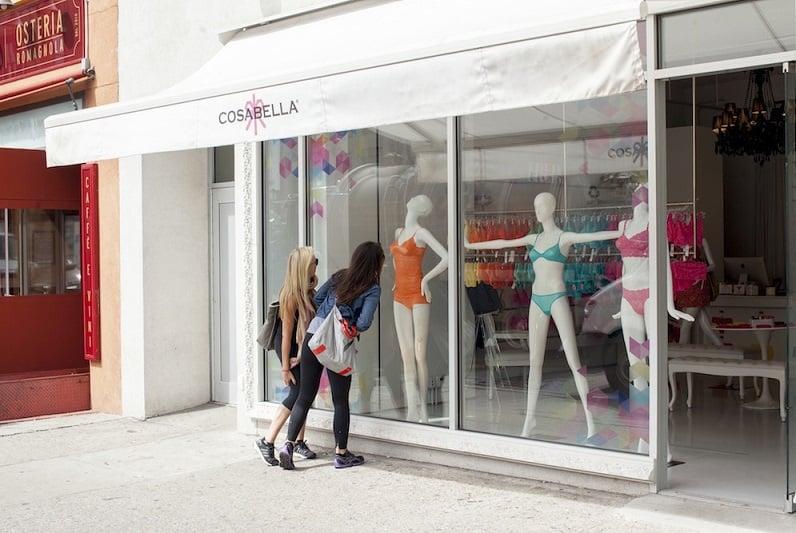 Loja de lingerie Cosabella em Nova York