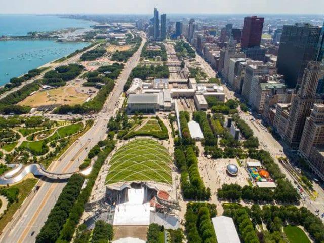Parque Millenium Park em Chicago