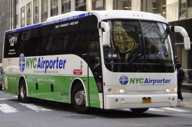 Ônibus do aeroporto JFK até Manhattan em Nova York