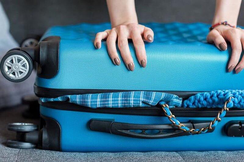Tamanho da mala e bagagem - voo para Nova York