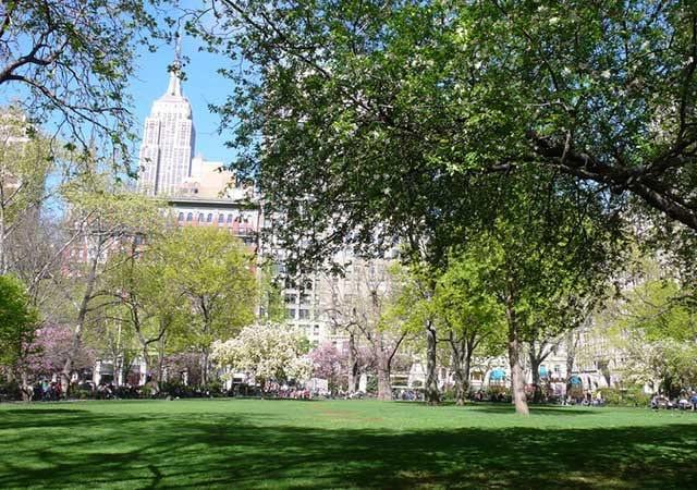 Parque Madison Square Park em Nova York