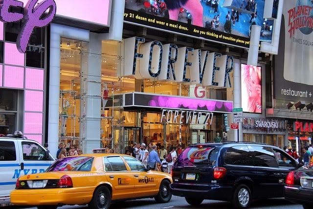 Loja Forever 21 na Times Square em Nova York