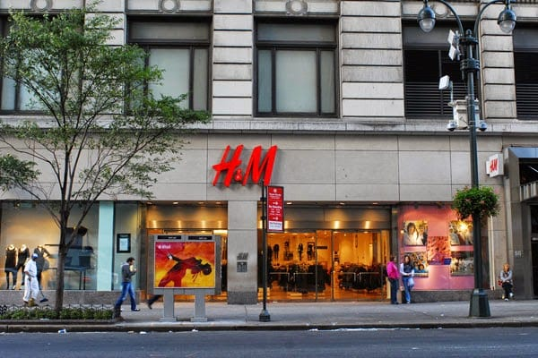 Loja de roupas H&M em Nova York