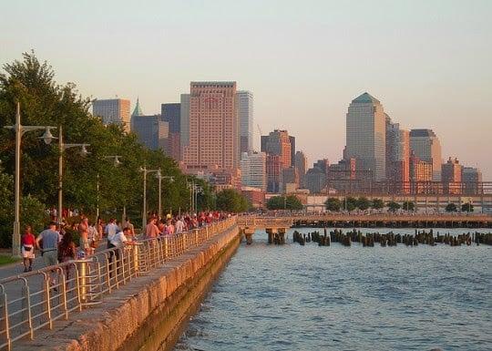 Parque Hudson River Park em Nova York