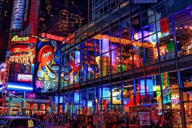 Loja M&M's World em Nova York