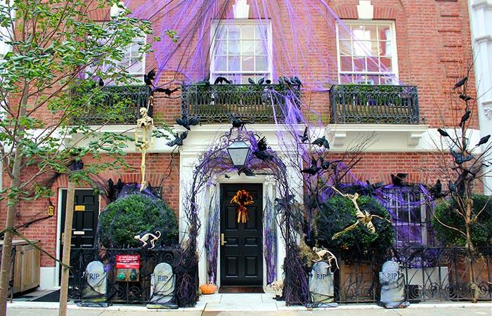 Decoração de Halloween em Nova York