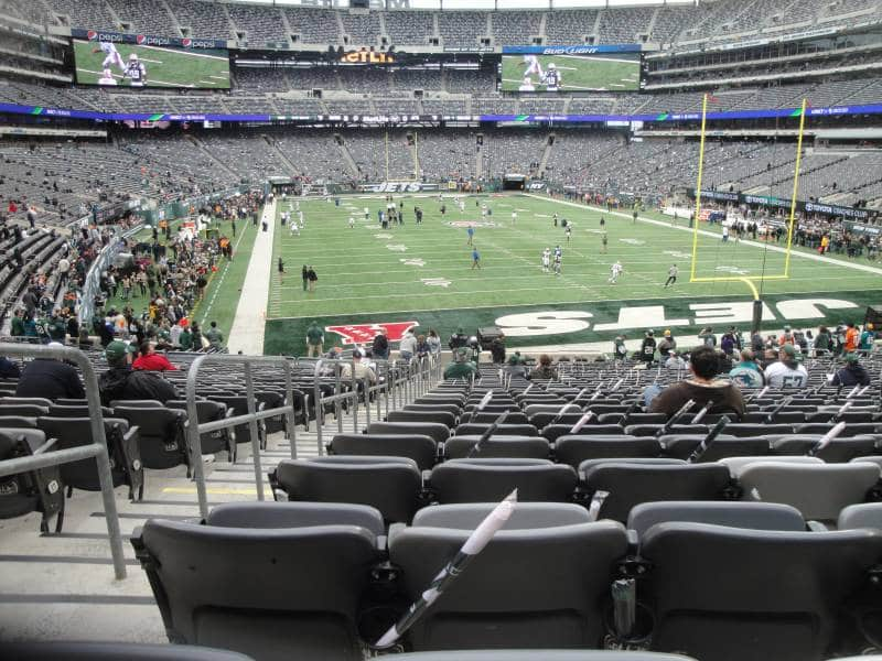 Onde sentar no MetLife Stadium