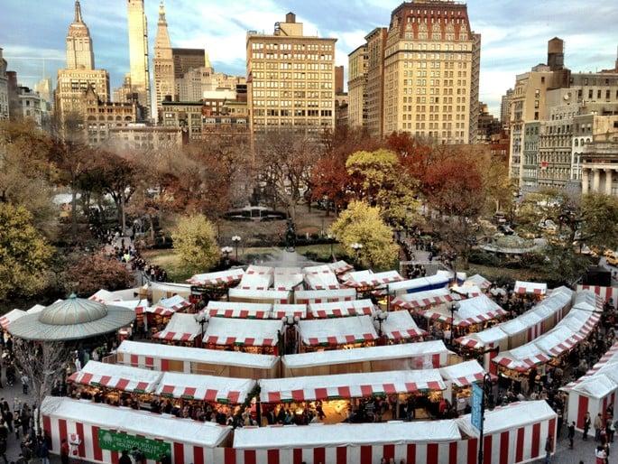 Union Square Holiday Market em Nova York