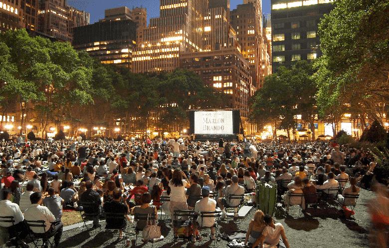 Cinema ao ar livre em Nova York