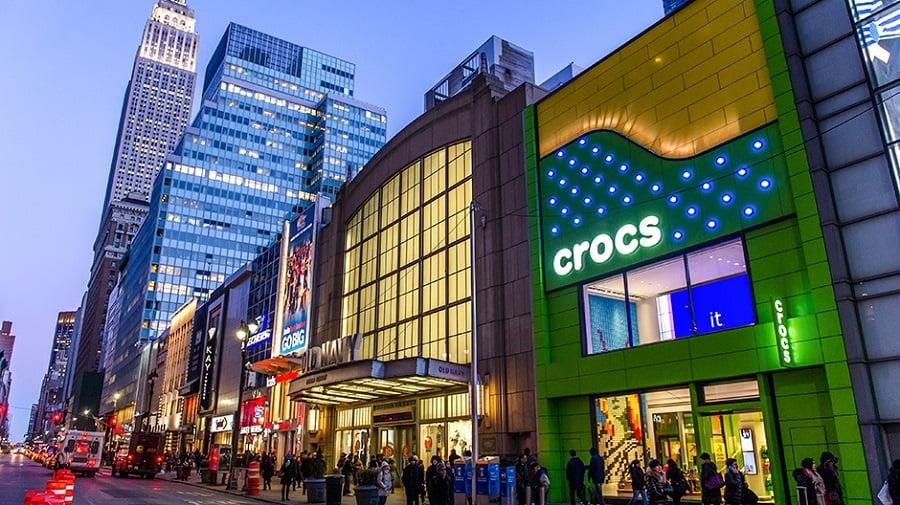 Crocs em Nova York