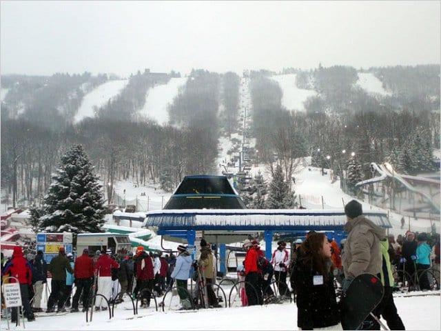 Estação de esqui perto de Nova York