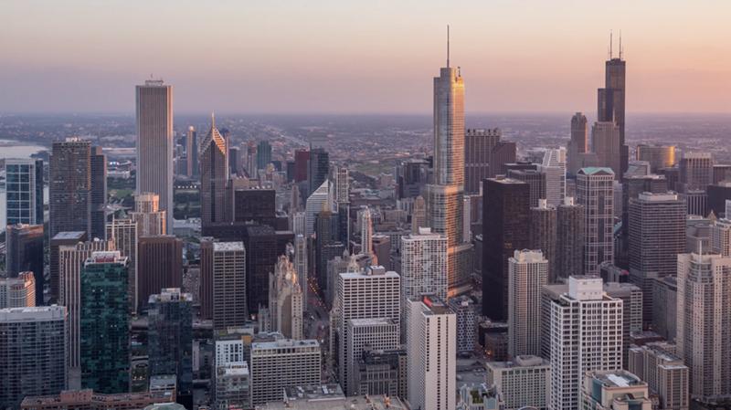 Vista aérea de Chicago