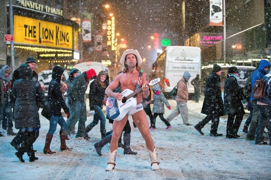 Mascotes na Times Square