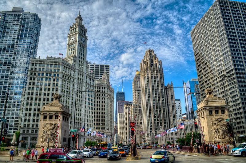 Avenida Michigan em Chicago