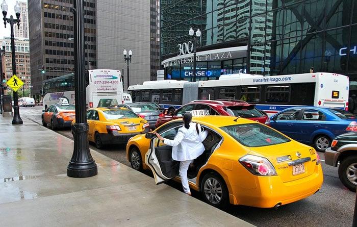 Andar de Táxi em Chicago