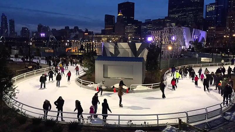 Patinação no gelo em Chicago