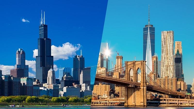 Como ir de Chicago a Nova York ou de Nova York a Chicago