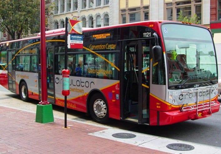 Andar de ônibus em Washington