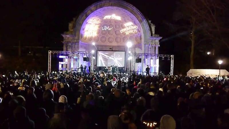Noite de Ano Novo no Central Park