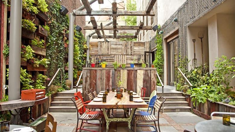 Restaurante Talula's Garden na Filadélfia