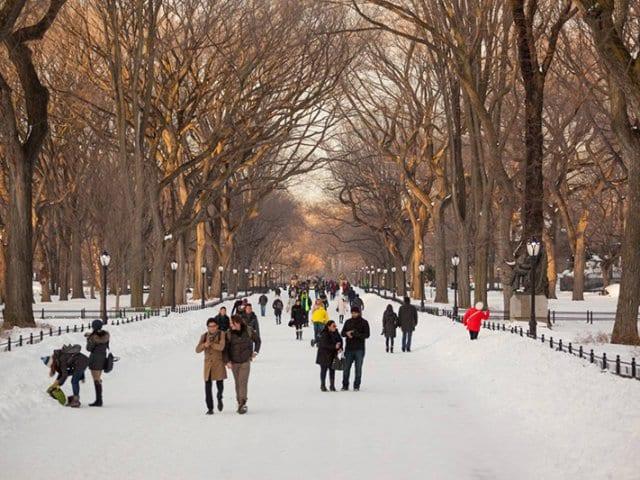 O que fazer com neve em Nova York