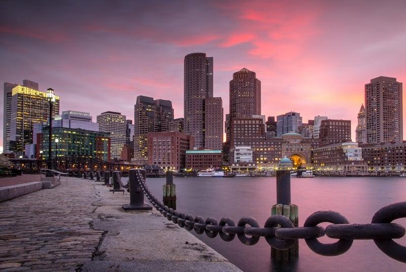 Pontos turísticos em Boston
