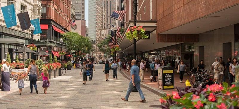 Downtown Crossing em Boston