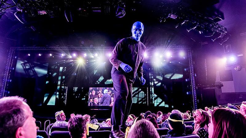 Interação no show do Blue Man Group em Nova York