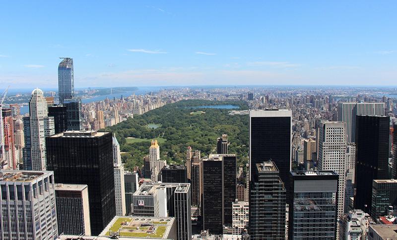 Vista Top of the Rock em Nova York