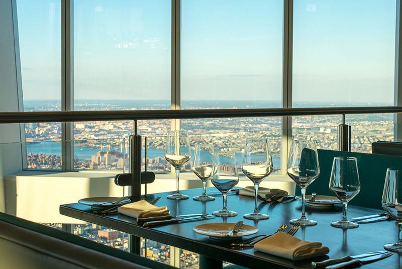 Gastronomia no Observatório One World em Nova York
