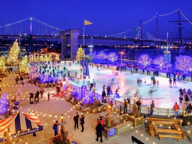 Patinação no gelo na Filadélfia