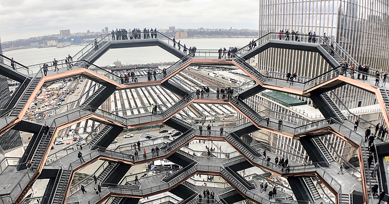 Interior The Vessel no Hudson Yards em Nova York