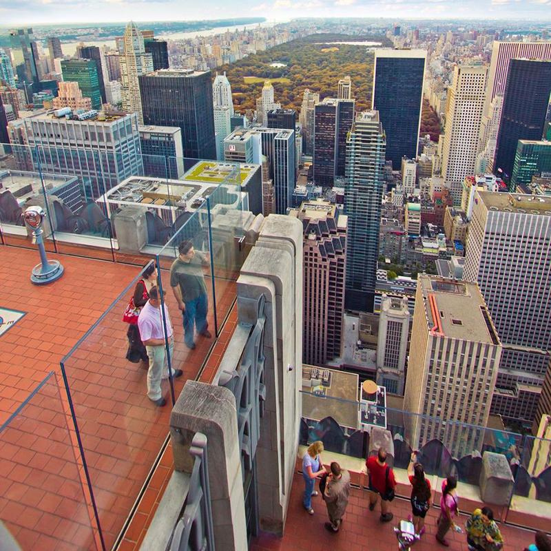 Mirante Top of the Rock em Nova York