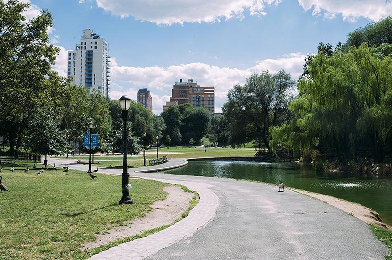 Morningside Park no Harlem em Nova York