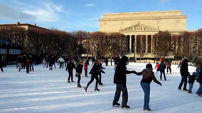 National Gallery of Art Sculpture Garden Ice Rink em Washington