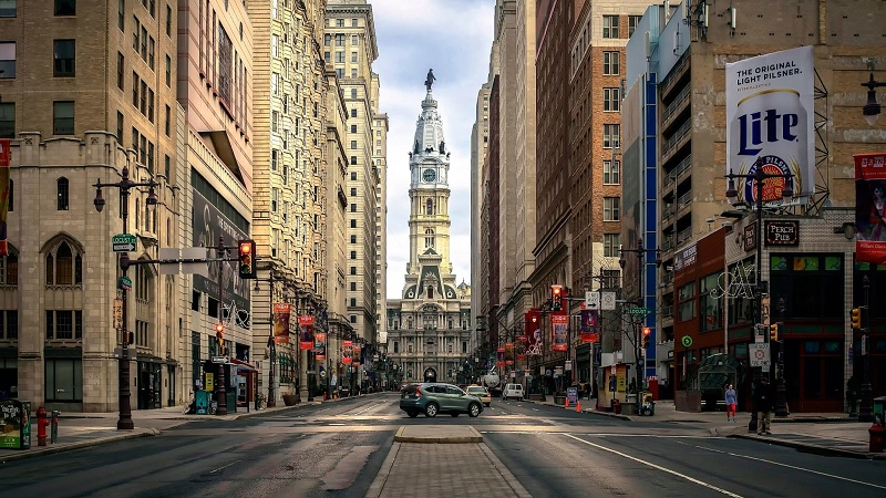 Meses de alta e baixa temporada na Filadélfia